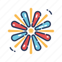 celebration, exploding, firework, fireworks, fourth of july, independence day, july fourth icon