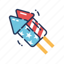 celebration, fireworks, fourth of july, independence day, july fourth, launch, rocket icon