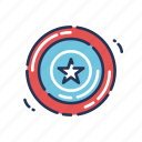 captain america, decor, fourth of july, guard, independence day, july fourth, shield icon