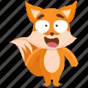 emoji, emoticon, fox, smiley, sticker