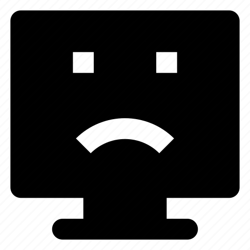 Computer, emoji, emoticon, frowning, smiley icon - Download on Iconfinder