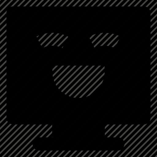 Computer, emoji, emoticon, grinning, smiley, smilling icon - Download on Iconfinder