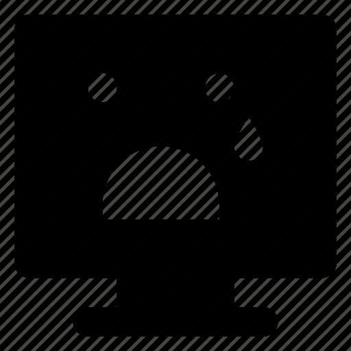 Computer, emoji, emoticon, relieved, sad, smiley icon - Download on Iconfinder