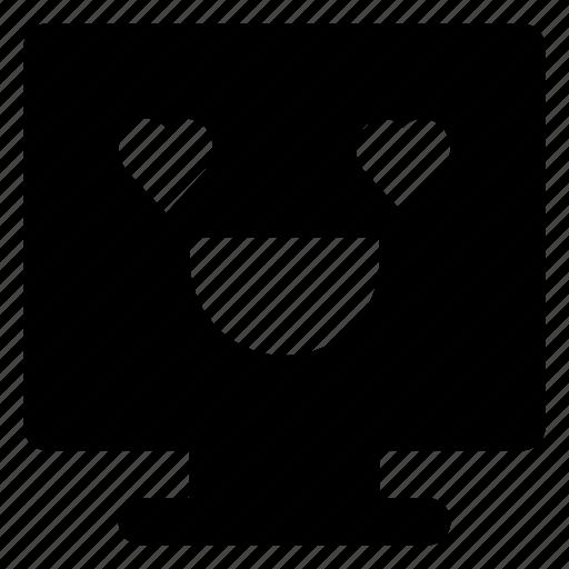 Computer, emoji, emoticon, love, smiley, smilling icon - Download on Iconfinder