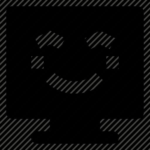 Computer, emoji, emoticon, smiley, smilling icon - Download on Iconfinder