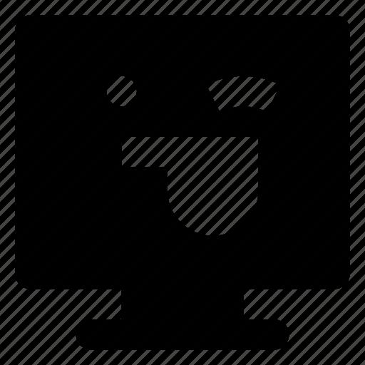 Computer, emoji, emoticon, smiley, tongue, winking icon - Download on Iconfinder