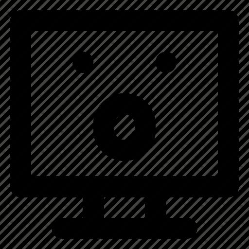 Astonished, computer, emoji, emoticon, smiley icon - Download on Iconfinder