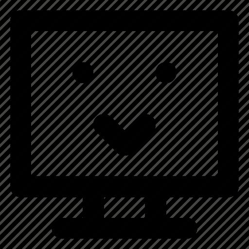 Computer, cute, emoji, emoticon, smiley, smilling icon - Download on Iconfinder
