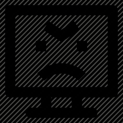 Computer, emoji, emoticon, pouting, smiley icon - Download on Iconfinder