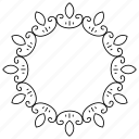 border, corner, frame, geometric, round icon
