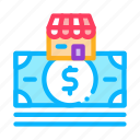 mark, banknote, wideworld, building, dollar, shop, trade icon
