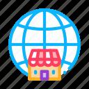trade, franchise, branches, wideworld, worldwide, handshake, mark icon
