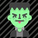 annoying, emoji, frankenstein, halloween, horror, monster, scientific icon