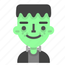 emoji, frankenstein, halloween, happy, horror, monster, scientific icon