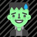 emoji, frankenstein, halloween, horror, monster, scientific, sorry icon