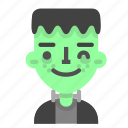 emoji, frankenstein, halloween, horror, monster, scientific, wink icon