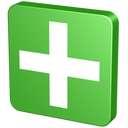 add, add to, append, button, create, cross, green, knob, netvibes, pin, plus, snap, supplement, tack, tag, throw in, verdancy, vert icon