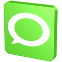 about, announcement, bubble, chat, communication, forum, green, hint, information, message, new, report, statement, talk, technorati, verdancy, vert icon