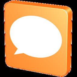 about, balloon, baloon, bubble, chat, comment, comments, forum, help, hint, knob, mandarin, mandarine, orange, pin, snap, speech, tack, talk, tangerine icon