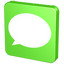 announcement, bubble, chat, comment, communication, forum, green, information, message, msn, report, sms, statement, talk, text, verdancy, vert icon
