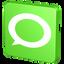 about, announcement, bubble, chat, communication, forum, green, hint, information, message, new, report, statement, talk, technorati, verdancy, vert icon