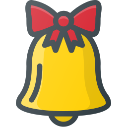 bell, christmas, ornament, sound icon