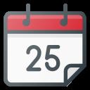 calendar, christmas, date, december icon