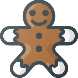 christmas, cookie, gingerbread, sweet icon