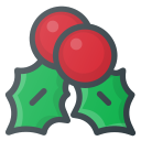christmas, mistletoe, ornament icon