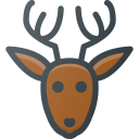 animal, christmas, deer, rudolf icon