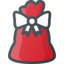 bag, christmas, gift, present, santa icon