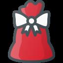 bag, gift, present, santa, christmas