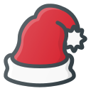 claus, santa hat, santa, hat, christmas icon