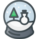 christmas, ornament, snow, snowbulb, toy icon