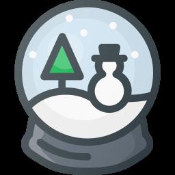 christmas, ornament, snow, snowbulb, toy icon
