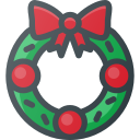 wreath, ornament, christmas
