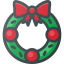 christmas, ornament, wreath icon
