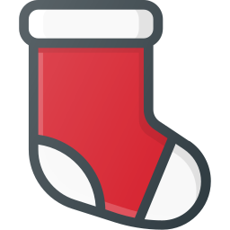 christmas, socks, xmas icon