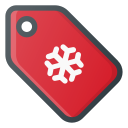 christmas, price, shopping, snowflake, tag, xmas icon