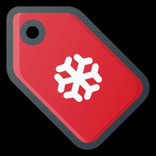 christmas, price, shopping, snowflake, tag, xmas icon