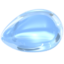 aquamarine, blue, gem, jewel, light, light-blue, precious, stone icon