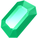 emerald, gem, gemstone, green, jewel, precious, stone icon