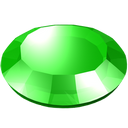 gem, gemstone, green, round, stone icon