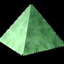 axestone, gem, green, greenstone, jade, jewel, nephrite, nephritis, precious, pyramid, stone icon