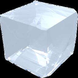 crystal, cube, gem, jewel, precious, salt, transparency, transparent icon