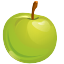 apple, food, fruit, green, healthy, organic icon