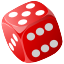 3d, casino, chance, cube, dice, gamble, gambling, game, lucky, poker, risk icon