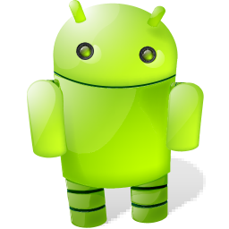 android, shadow, with icon