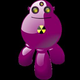 atomic, atomical, automatic, automatic machine, automaton, corpuscular, machine, machine gun, nuclear, robot icon