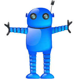 automatic, automatic machine, automaton, blue, dark blue, indigo, machine, machine gun, navy blue, robot, sapphirine icon